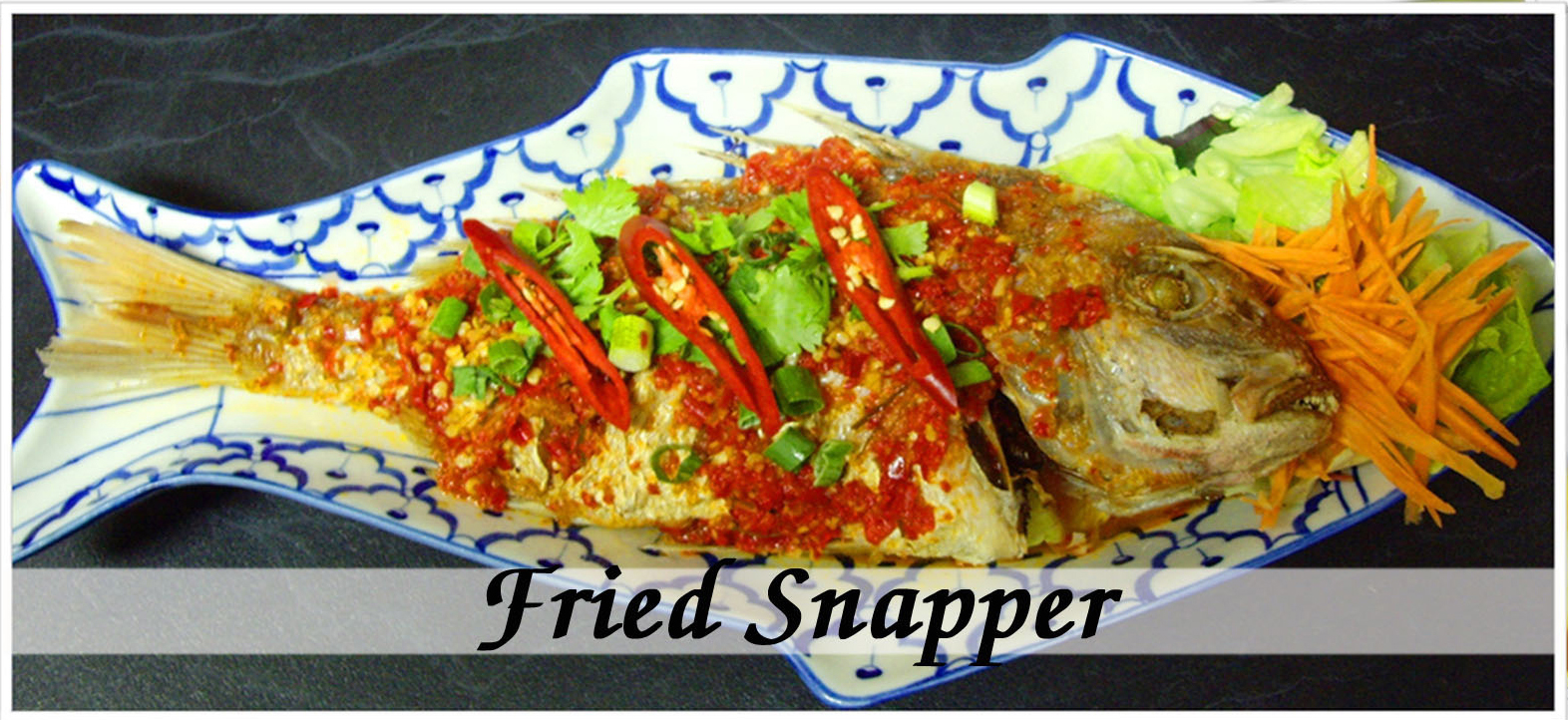 Fried Snapper (Pla Rard Prig)
